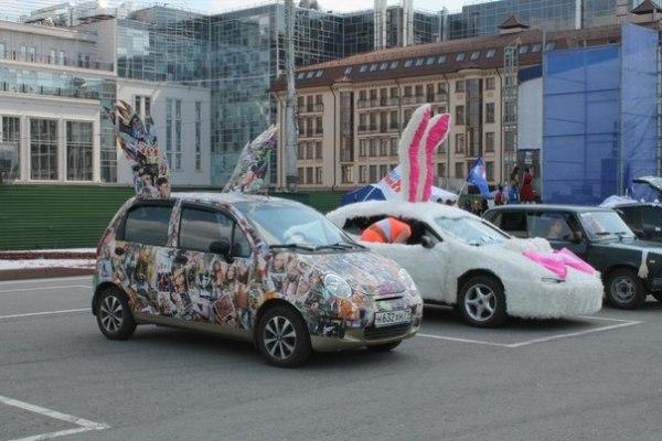 Украшение машины на конкурс автоледи